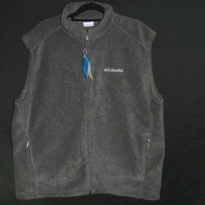 NWT XL Gray Columbia Fleece Vest
